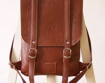 Chestnut Brown leather backpack rucksack / To order / Leather backpack / Leather rucksack / Womens backpack / Christmas Gift
