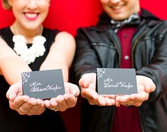 Custom Wedding Calligraphy Place Cards, Escort Cards, Seating Chart, Invitation Envelope Addressing - Handwritten Calligraphy