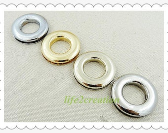 6pcs Large Eyelets,Screw Grommet,Metal Eyelets polish inner 15mm 5/8inch A589