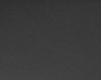 Licorice Gray Micro Modal Fabric Jersey Knit Semi Sheer (Lingerie Bridal Yoga Wear)