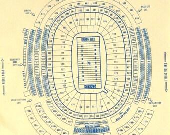 Green Bay Packers Lambeau Field Blueprint
