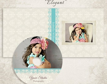 CD Single Case and CD/DVD Label Templates - Elegant 2 - Id054, Instant Download