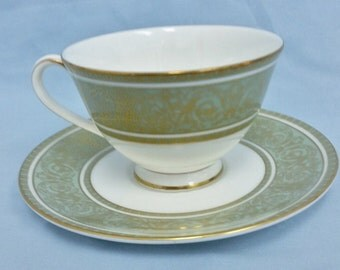 Royal Doulton English Renaissance China Footed Cup and Saucer