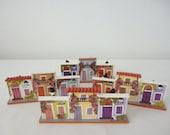 1990's Folk Art Card Holders / Old San Juan / Puerto Rico - Set of 3