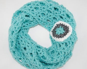 Crochet PATTERN - Diamond Lace Infinity Scarf  - Girls to Ladies Sizes - Instant Download - PDF- Charted Photo Tutorial