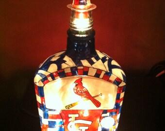 St.Louis Cardinals whiskey bottle lamp