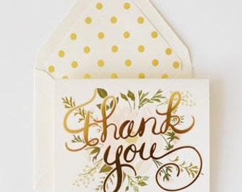 Thank You Cards Foiled