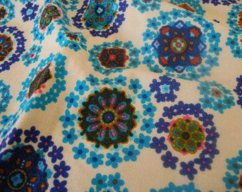 Vintage Fabric Blue Retro