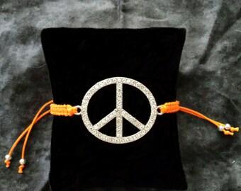 "Macrame ""Peace"" Bracelet"