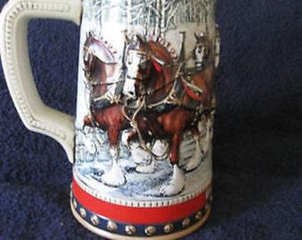 Anheuser-Busch Holiday Collector Series Beer Stein Mug 1988 Vintage CL18-12