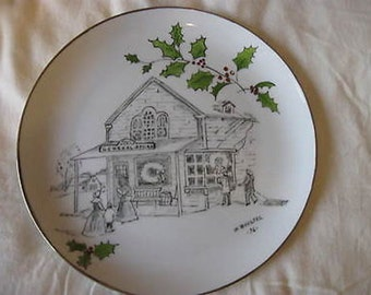 Holiday Collector Plate by M Bueltel 1976 CL29-8