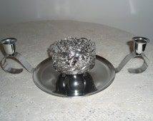 Silver Metal Centerpiece for weddings or parties, Build a centerpiece with candle holders