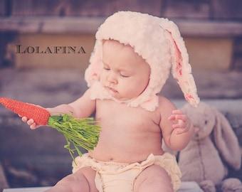 White Bunny Hat...Baby Hat...Rabbit Hat