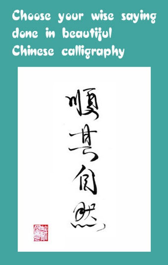 Chinese Quotes In Beautiful Brush Calligraphy