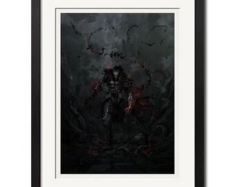 Castlevania Dark Knight Graphic Art Poster Print