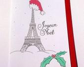 Joyeux Noël Paris France Christmas Card