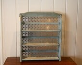 Vintage Spice Rack Grey/Blue