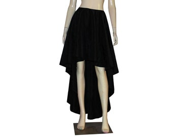Mullet Taffeta Skirt Prom Evening Bridesmaid High Low Full Circle Formal Skirt XS S M L XL