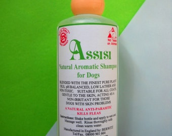 AROMATHERAPY NATURAL SHAMPOO for Dogs and Cats -200 ml, for Sensitive, Allergic Skins, Soothing, all natural, cruelty free, sls free