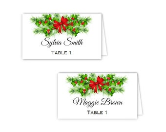 Pine Cones and Holly Wedding or Holiday Party Invitations