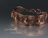 Solid Copper Woven Bracelet