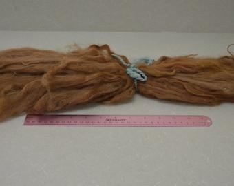 Extremely long suri llama locks auburn red fawn 16 inches