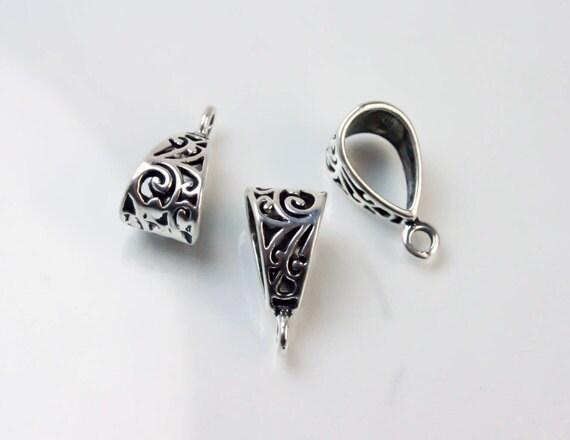 necklace bails do it yourself necklace accessories diy. Black Bedroom Furniture Sets. Home Design Ideas