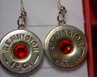 Wedding Jewelry - Bullet Jewelry - Shotgun shell jewelry - Swarovski Crystal jewelry -  Gun Shell Jewelry