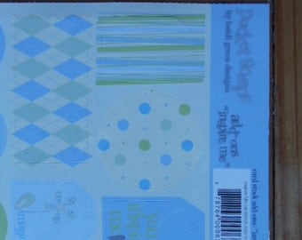 """Add On's """"Pocket Scraps"""" by heidi grace designs.  Great for scrapbooking, card making, and crafts.  Variety of circles and squares included."""