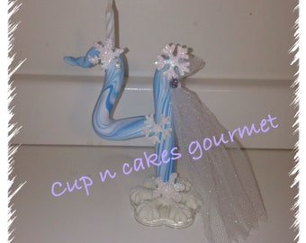 Frozen Cake Topper / Candle ( any number )