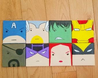 Avengers Mini-Canvas Minimalist Portraits