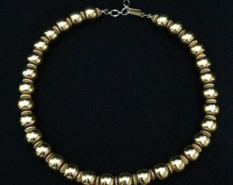 Vintage 1960 Trifari© Bead Choker Necklace (Tier3)