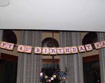Large Custom Birthday Banner