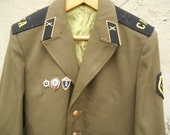 Soviet vintage Army Jacket Soldier Military Uniform Rocket Forces Artillery uniform