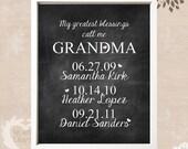 Gift Idea for Grandma - Personalized Grandma Wall Decor - Personalized Gift Ideas