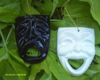 Comedy & Tragedy Ornaments - Set of 2