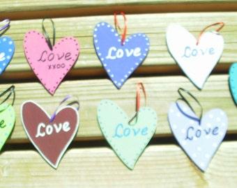 Love Heart Wooden Ornament