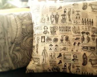 Medical Anatomy and Oddity Pillow Case