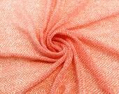 Ripple Paiting Coral White Chiffon Fabric - 1 Yard Style 8005