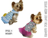 Little Missy Dog Dress Pattern 1708 * Small & Medium * Dog Clothes Sewing Pattern * Dog Harness Dress * Dog Apparel * Little Dog Clothes