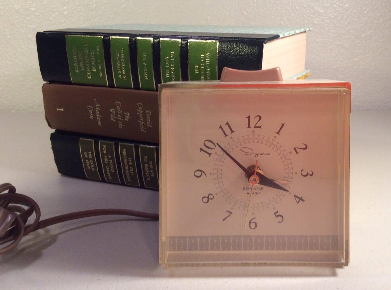vintage electric alarm clock by ingraham desk or bedroom clock