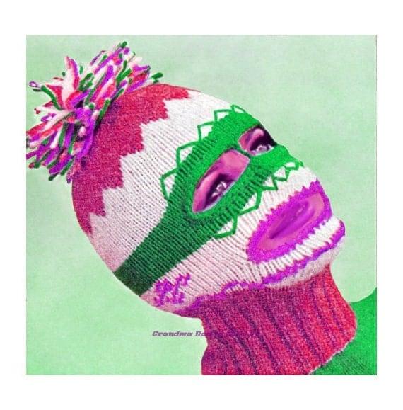 Ski Mask Knitting Pattern : Knitting Pattern Vintage Pattern Ski Mask Balaclava