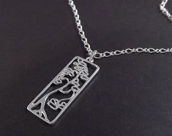 Bonsai Tree - Sterling Silver Necklace