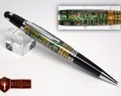 Handmade Circuit Board Twist pen with Stylus