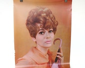 Hair Salon Decor - Vintage Poster - 1960s Hair Style - Beauty Salon Advertising - Woman's Portrait