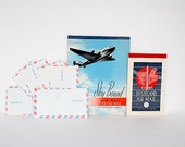 Vintage Air Mail Stationery AirmailEnvelopes - Sky Bound Typewriter Onion Skin Paper - Eaton's Highland Airmail Pad - Photo Prop