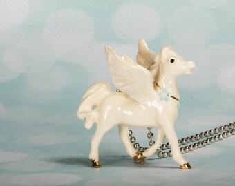 Pegasus - Necklace - Pegasus Jewelry - Fantasy Jewelry - Pegasus Pendant  Winged Horse Necklace - Pegasus Charm Necklace - Fantasy Jewellery