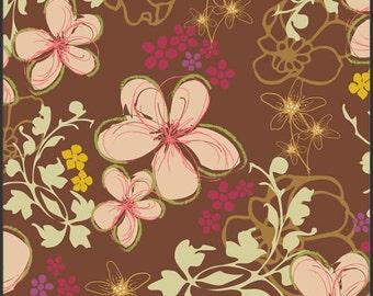 """SALE! 1 yard Twirls in the Woods Bohemian Soul Art Gallery Fabrics- 44"""" wide"""