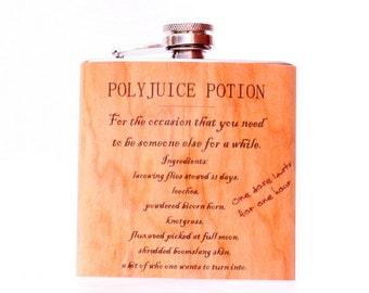 Harry Potter real wood Polyjuice flask wood gift