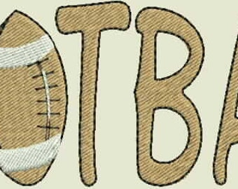 Football Word  Machine Embroidery Design